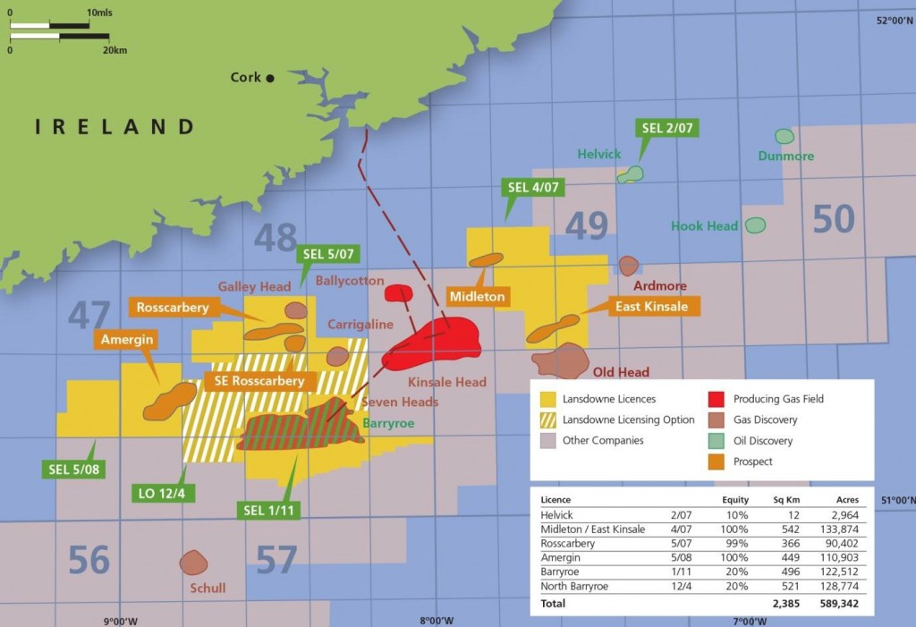 North Celtic Sea Basin Location Map